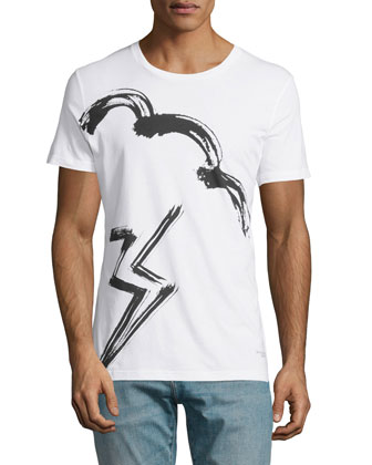 Selsey Storm-Graphic Knit Tee, White