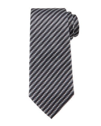 Micro-Track Neat Tie, Gray