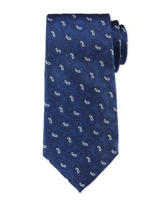 Small-Paisley Tie, Navy