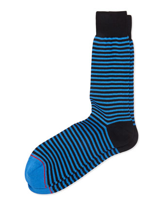 Two-Stripe Socks, Black