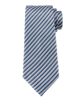 Micro-Track Neat Tie, Blue