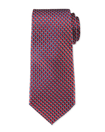 Circle-Neat Tie, Red