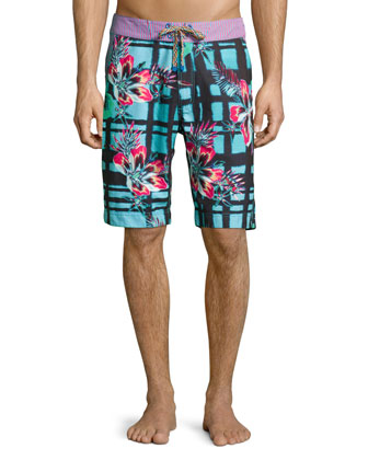 Multi-Body Surf Swim Trunks, Multicolor