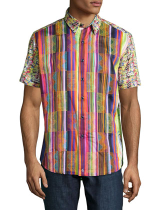 Citadel Multi-Print Short-Sleeve Shirt, Red/Multi