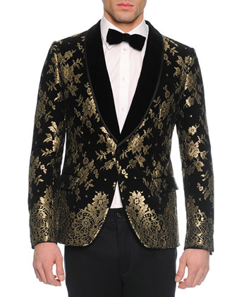 Chantilly Lace Velvet Evening Jacket, Long-Sleeve Woven Shirt, Solid Velvet ...