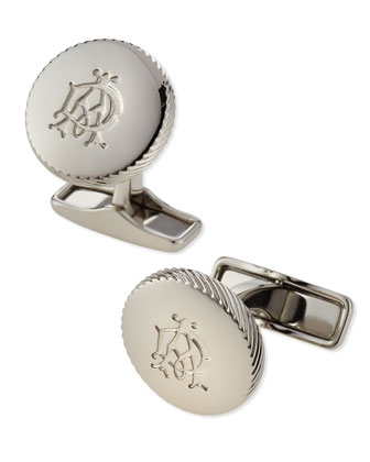 Palladium Knurl Wheel Cuff Links