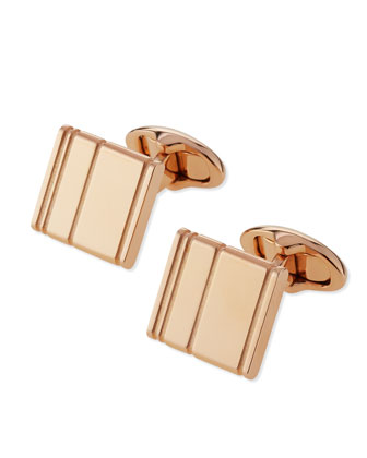 Dunhill Lines Rose Gold Cuff Links