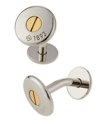 Palladium Bicolor Screw Cuff Links