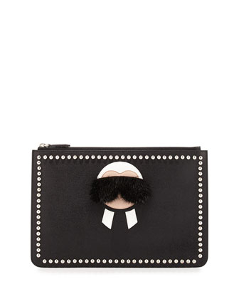 Karlito Pouch with Mink Fur Detail