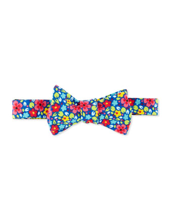 Floral Bow Tie, Blue Multi