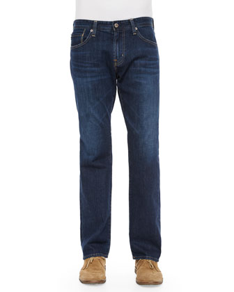 New Hero Straight-Leg Denim Jeans, Indigo