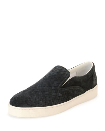 Dodger Suede Slip-On Sneaker, Gray