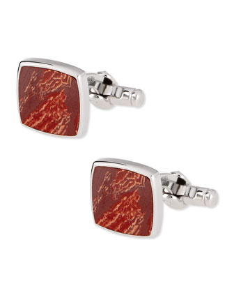 Sterling Silver Jasper Cuff Links