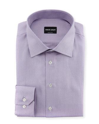 Textured Neat Dress Shirt, Lavender