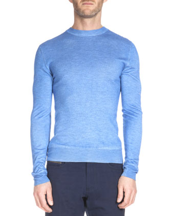 Overdyed Crewneck Sweater, Blue