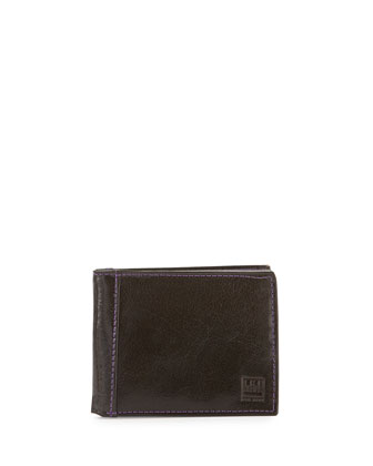 Leather Bi-Fold Wallet, Brown