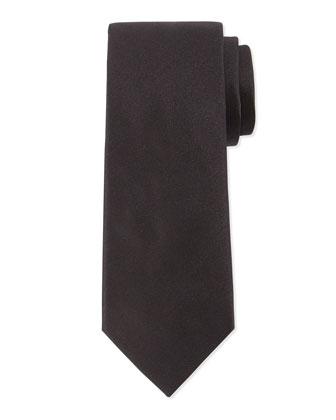 Solid Silk Tie, Black