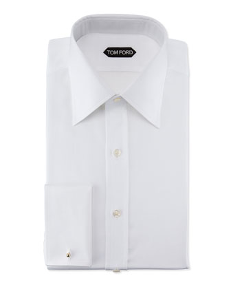 Slim-Fit Classic Dress Shirt, White