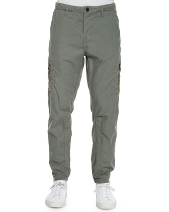 Aviator Relaxed-Fit Flight Pants, Green