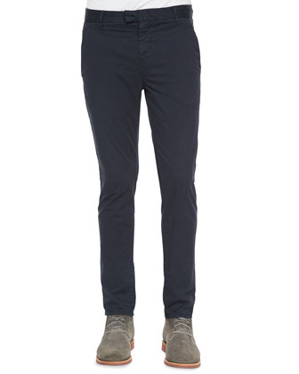 Brooks Slim-Fit Chino Trousers, Blue