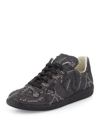 Replica Pixelated Low-Top Sneaker, Gray