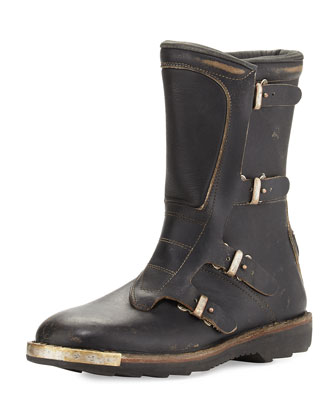 Replica Motorcycle Boot, Black
