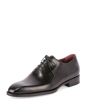 Alessandro Lace-Up Box Calf Leather Shoe, Black