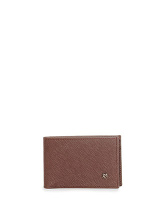 Saffiano Leather Bifold Wallet, Galaxy