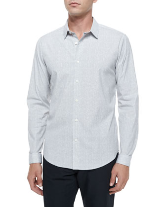 Full-Zip Suede Jacket, Grid-Pattern Long-Sleeve Woven Shirt & Haydin ...