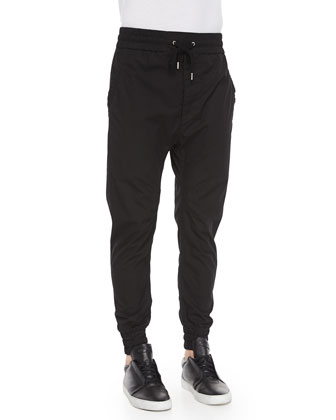 Cotton Track Pants, Black