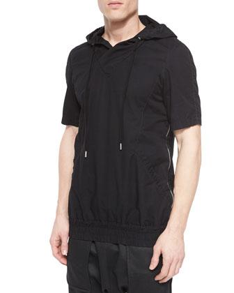 Side-Zip Short-Sleeve Hoodie & Cargo-Pocket Jogger Pants