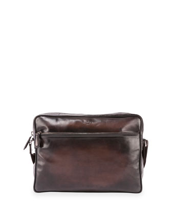 Scritto Leather Messenger Bag, Brown