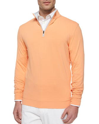 Perth Quarter-Zip Sweater, Orange
