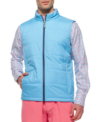 Wave Lyon Lightweight Puffer Vest, Blue
