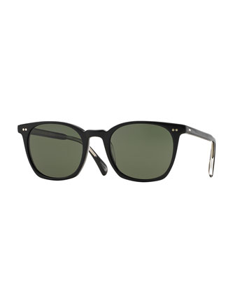 L.A. Coen Acetate Sunglasses, Black