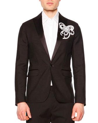 Embellished Evening Jacket, Black