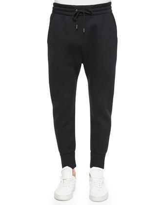 Basic Fleece Track Pants, Black
