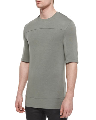 Baby Terry Crewneck Tee, Gray