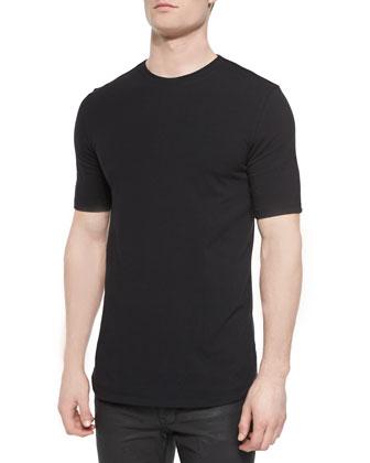 Basic Short-Sleeve Jersey Tee, Black