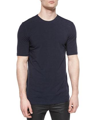 Basic Short-Sleeve Jersey Tee, Navy