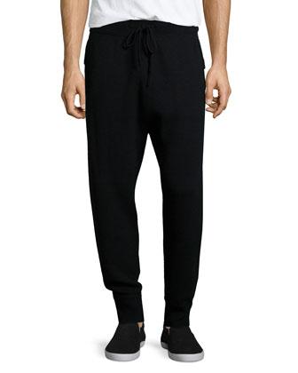 Cashmere Jogger Pants, Black