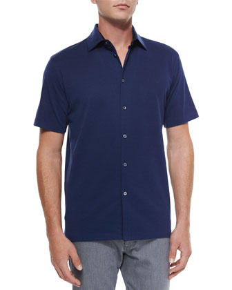 Mister Buttons Polo Shirt, Navy