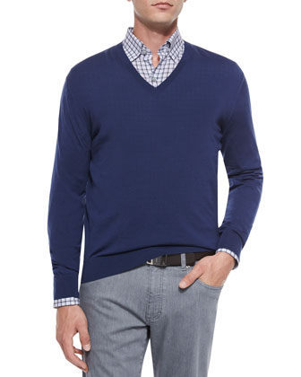 High-Performance Wool Sweater, Blue