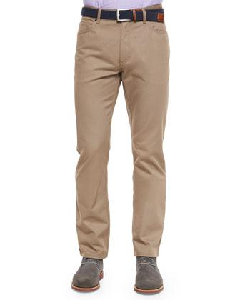 Cotton-Blend Pique Polo Shirt & Five-Pocket Twill Pants