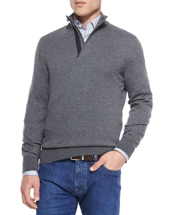 Cashmere-Blend Textured Pullover, Striped Woven Sport Shirt & Slim Fit ...