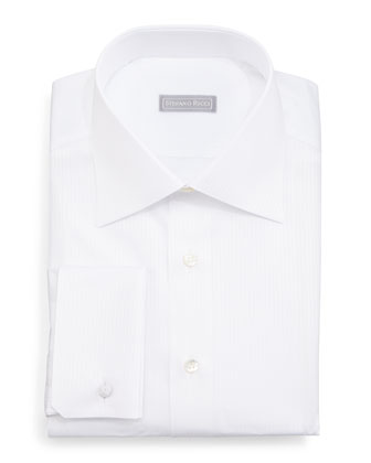 Tonal-Stripe Dress Shirt, Whiten3bt1