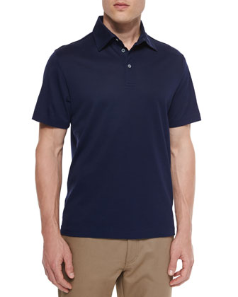 Cotton-Blend Pique Polo Shirt & Five-Pocket Twill Pants