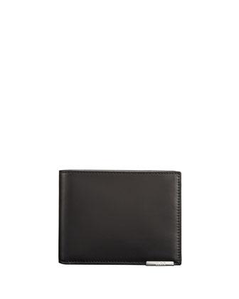 Toledo Bi-Fold Leather Wallet, Black