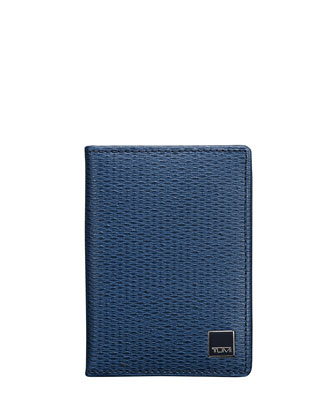 Monaco Gusseted Card Case with ID Lock Technology, Cobalt