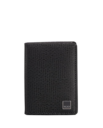 Monaco Gusseted Card Case with ID Lock Technology, Black